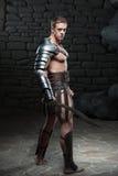 Gladiator με την τοποθέτηση ξιφών Στοκ Φωτογραφίες