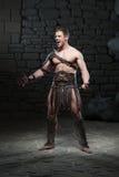 Gladiator με την τοποθέτηση ξιφών Στοκ Εικόνες