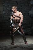 Gladiator με δύο ξίφη Στοκ φωτογραφία με δικαίωμα ελεύθερης χρήσης