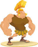 Gladiator. The figure shows male-Roman gladiator wearing a helmet.Illustration done in cartoon style Stock Photography