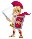 Gladiator. Illustration of a Gladiator armed and ready for battle stock illustration
