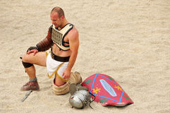 Gladiator on the  Amphitheater of Tarragona Spain Stock Photography