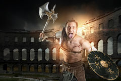 Gladiator in the arena Royalty Free Stock Photo