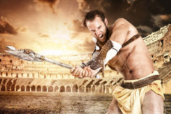 Gladiator in the arena Royalty Free Stock Photos
