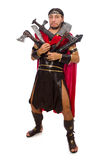 Gladiator with armament isolated on white Stock Image