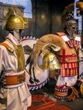 Gladiator Artifacts på Colosseumen i Rome, Italien Royaltyfri Bild