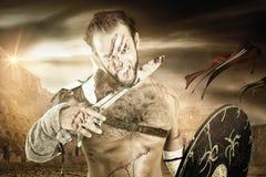 Gladiator/Barbarian warrior stock images