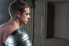 Gladiator from behind Royalty Free Stock Photo