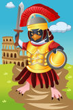 Gladiator Bird. A vector illustration of gladiator bird Stock Photo