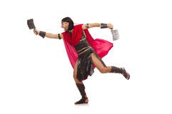 Gladiator with cleaver isolated on white Stock Images