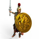 Gladiator. 3D CG rendering of a gladiator Stock Image