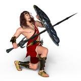 Gladiator. 3D CG rendering of a gladiator Stock Photos