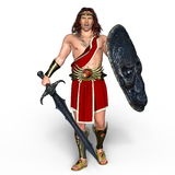 Gladiator. 3D CG rendering of a gladiator Royalty Free Stock Image