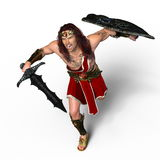 Gladiator. 3D CG rendering of a gladiator Stock Images