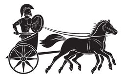Gladiator. The figure shows a chariot with a gladiator Royalty Free Stock Photos