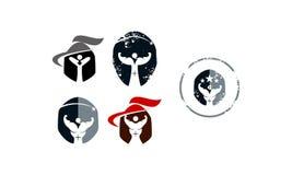 Gladiator Fitness Solutions Set Royalty-vrije Stock Foto's