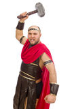 Gladiator with hammer isolated on white Stock Image