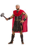Gladiator with hammer isolated on white Stock Images