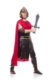 Gladiator holding sword Stock Photo