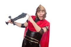 Gladiator holding sword Stock Image