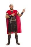 Gladiator isolated on white Stock Photography