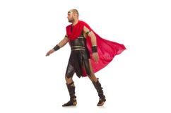 Gladiator isolated on white Royalty Free Stock Images