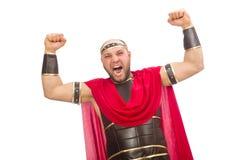 Gladiator isolated on white Stock Photos