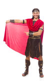 Gladiator isolated on white Royalty Free Stock Photo