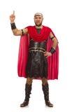 Gladiator isolated on white Royalty Free Stock Photography