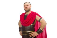 Gladiator isolated on the white Stock Photography