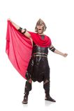 Gladiator isolated on the white Royalty Free Stock Photography