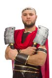 Gladiator isolated on the white Stock Images