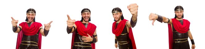 The gladiator isolated on white Royalty Free Stock Photography