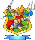 Gladiator, kordzik w ręce Zdjęcia Stock