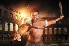 Gladiator/krigare arkivbilder