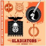 Gladiator Logos Templates Design stock illustratie