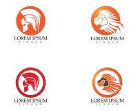 Gladiator mask warior logo and symbols template. App Stock Photo