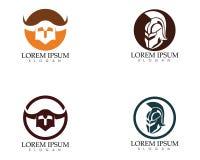 Gladiator mask warior logo and symbols template. App Stock Images