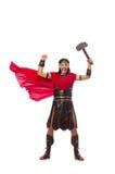 Gladiator met hamer Stock Afbeeldingen