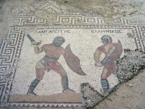Gladiator-Mosaik Stockfoto