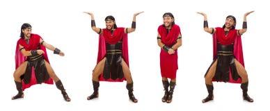 Gladiator odizolowywający na bielu Obraz Royalty Free