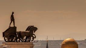 Gladiator på triumfvagnen Royaltyfri Bild