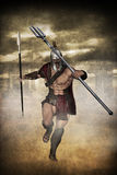 Gladiator running Royalty Free Stock Image