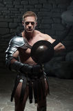 Gladiator with shield and sword Stock Image