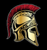 Gladiator Spartan Helmet Vector Illustration Royaltyfri Illustrationer