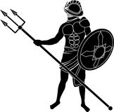 Gladiator. Stencil of gladiator. vector illustration Royalty Free Stock Photos