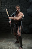 Gladiator with sword and axe Stock Photos