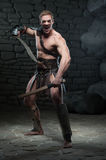 Gladiator with two swords Stock Photo