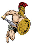 Gladiator warrior sports mascot Stock Photo