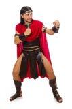 Gladiator  on white Royalty Free Stock Photography